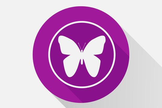 Icono rosa de una mariposa.