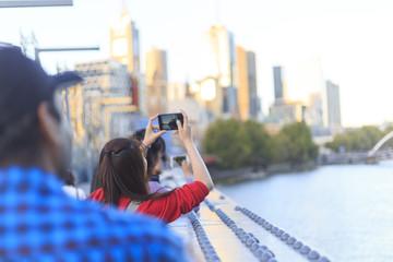 Tourist in Melbourne City in Australia