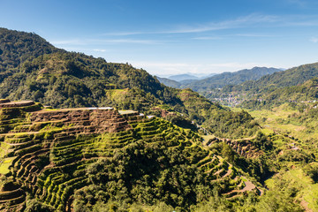 Spectacular rice terraces in the Banaue area of Luzon, Philippines