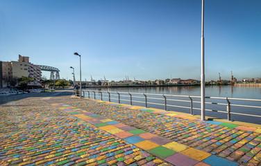 Colorful promenade at La Boca neighborhood - Buenos Aires, Argentina