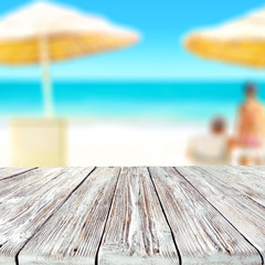 table background and beach landscape