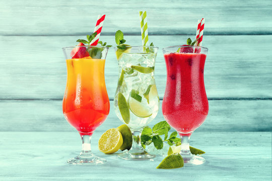 summer drink and free space for your decoration.