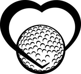 golfball heart