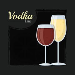 Vodka alcohol drink