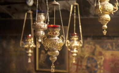 golden chandelier