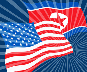 North Korean And Usa Security Diplomacy 3d Illustration