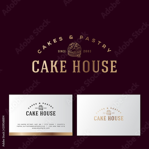 Bakery Logo Sweets Cakes And Pastry Emblem Bakery And Cafe Logo A