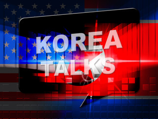 North Korea Peace Cooperation With Usa 3d Illustration