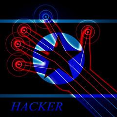 Hackers Means North Korean Data Crime 3d Illustration