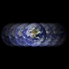 earth on black background