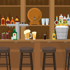 Drinks inside bar