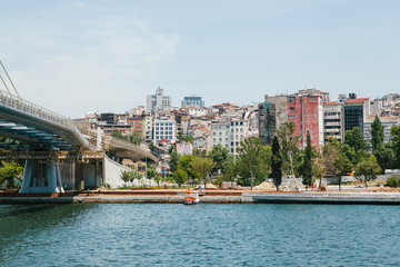 Beautiful view of the European part of Istanbul, Turkey