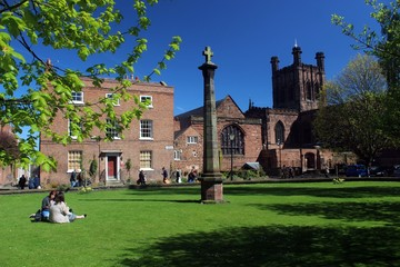 Chester Cathedral and Abbey Square. Wall mural