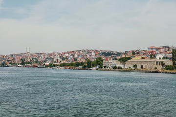 View of the European part of Istanbul from the side of the Bosphorus