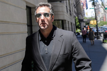 U.S. President Donald Trump's lawyer Michael Cohen leaves his hotel in the Manhattan borough of New York City