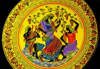 Greek God Dionysus Wine Music Ancient Replica Pottery Athens Greece