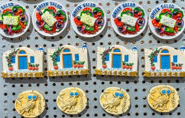 Greek Salad Ceramic Magnets Athens Greece