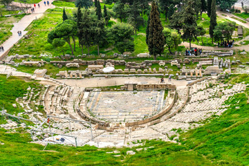 World's Oldest Theater of Dinoysus Acropolis Athens Greece