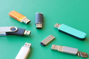 a lot of USB flash drive