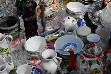 Versailles; France - june 10 2018 : flea market