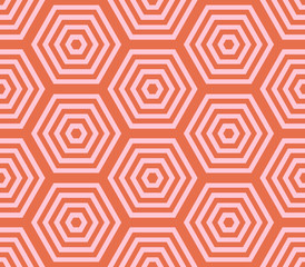 Abstract hexagon geometric seamless pattern. Mosaic background. Vector illustration.