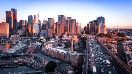Canvas Prints Sydney Over looking traffic over the Sydney Western Distributor.