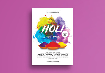 Holi Festival Flyer Layout