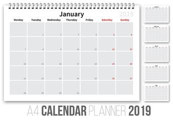 2019 Calander Layout