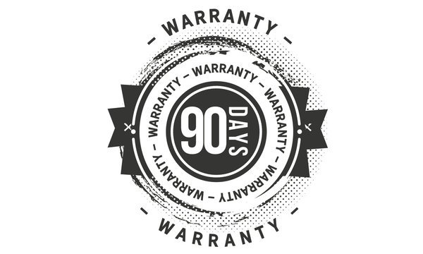 90 days warranty icon stamp guarantee