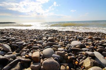Rocks on Lake Michigan