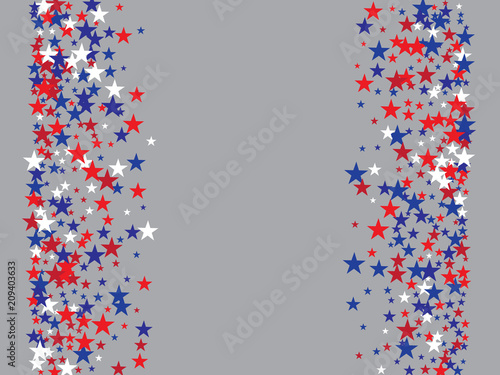 Patriotic 4th Of July Independence Day Of America Stars Confetti