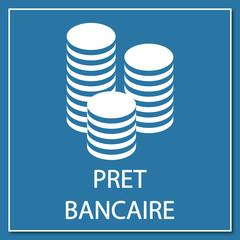 Logo prêt bancaire.