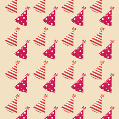 background of party hats pattern, colorful design. vector illustration