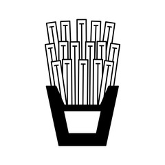 French fries box vector illustration graphic design