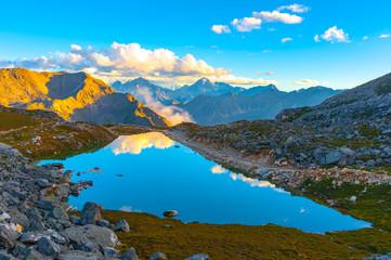 beautiful lake on the Zheduoshan mountains - sichuan,china