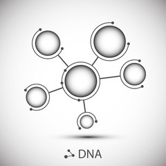 Bottom structure. Molecular and genetic mesh. Medicine and science. Vector graphics