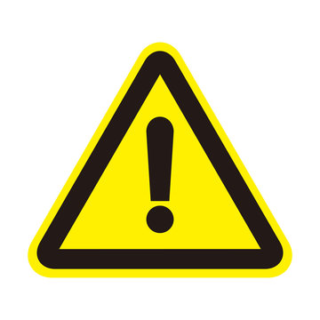 Attention sign icon. Warning symbol. Exclamation mark icon. alert sign with exclamation mark symbol.