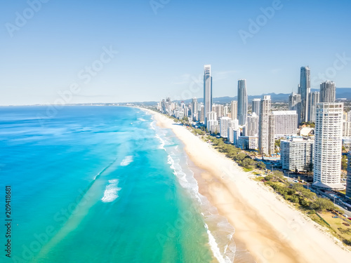 Surfers Paradise Beach From An Aerial Perspective On The