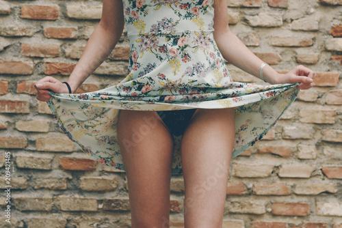 Women showing panties