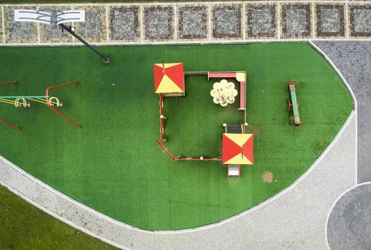 children playground, top view
