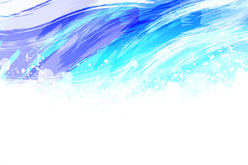 川の流れ 絵画風(筆のタッチ)