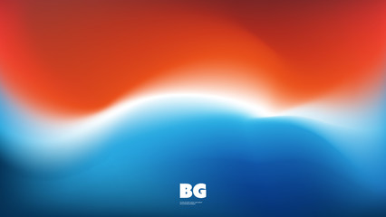 Colorful Bright Gradient Wallpaper or Background Design for Your Business with Abstract Blurred Pattern - Creative Vector Template