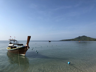 Long-tail boat on Koh Mook island