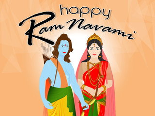 nice and beautiful abstract or poster for Ramnavami or Dussehra  with nice and creative design illustration.