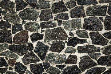 Stone background, wall texture, black and white surface
