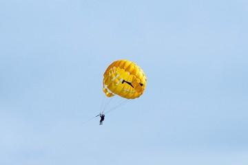 Paragliding sport background