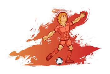 Dynamic illustration of a football player
