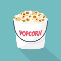 Popcorn bucket. Vector illustration