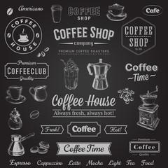 Hand Drawn Set Coffee Vector illustration