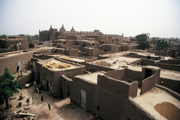 View on the roof of Djenné